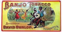 *590 Tabak Tobacco Werbung Blues Banjo Jazz Vintage Bild Schild Poster