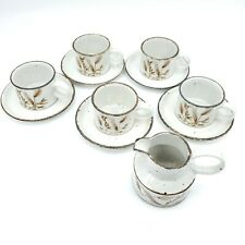 11 Piece Stonehenge Midwinter Wild Oats Coffee Cups Saucers and Creamer Pitcher