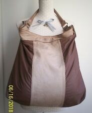 Liebeskind Tasche Handtasche Shopper Beuteltasche Leder Canvas beige braun