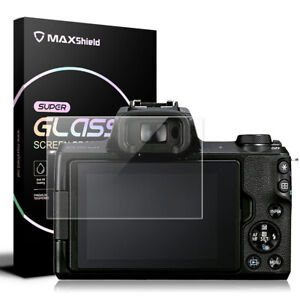MAXSHEILD Tempered Glass Camera Screen Protector For Canon EOS M50 M6 M100