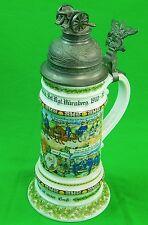 Vintage Replica German Germany WW1 Regimental Military Lion Beer Lidded Stein
