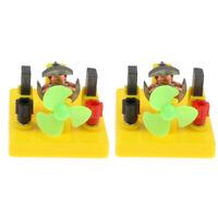 Set of 2 DIY Mini Motor Fan Model Physics Educational Experiment Toy