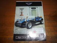 Prospekt Sales Brochure Donkervoort Super Seven Super Eight Konvolut Auto Car
