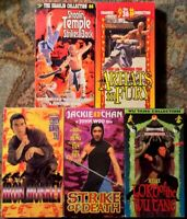 Vintage Kung Fu VHS Lot Of 5 (Wu Tang, Shaolin Temple, Iron Monkey, +) Jet Lee