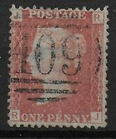 SG43. 1d.Rose-Red Plate92.  Fine 409 Numeral Cancel Of JERSEY.  Ref:0667