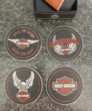 Harley Davidson, Stone & Cork 4 coaster set. Hallmark 2013