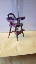 Dolls House Furniture   Mahogany High Chair