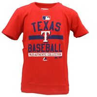 Texas Rangers Official MLB Majestic Genuine Kids Youth Size T-Shirt New W Tags