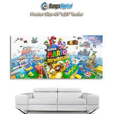 "Super Mario 3d World Hd Foto Cartel rd-7625 (49 ""x 23 pulgadas)"