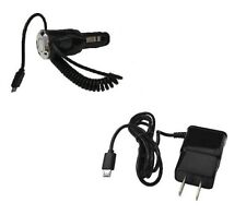 2 AMP Car Charger + Wall Home Travel Charger for LG Optimus F6 D500 MS500 D505
