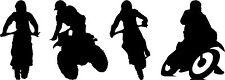 4 x MOTOCROSS MOTO (2) Art mural autocollants chambre d'enfant décalcomanie Moto