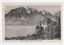 Clarens Le Chatelard & Les Alpes Vintage Postcard Switzerland 388a