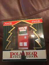 Coca Cola Polar Bear Collection 1998 Ornament Coke Machine & Polar Bears Inside