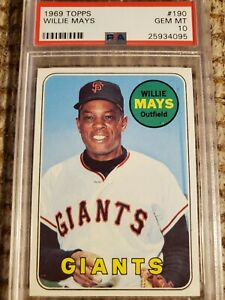 1969 Topps Willie Mays #190  PSA 10 Gem Mint