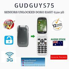 SENIORS UNLOCKED DORO PHONE EASY 6520 3G CAMERA EASY 2 USE BIG KEYS BUTTONS FLIP