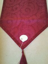 Laura Ashley Dining Table Runner Red Jacquard Damask Lined 200 x 50cm