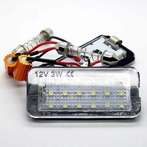 2x Fiat 500 LED SMD Number Plate Lighting Module Lights Set C Number Plate