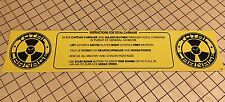 Total Carnage Arcade Instruction Card Midway Monitor Marquee Bezel Sign