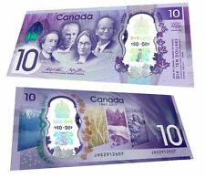 CANADA $10 1867 2017 COMMEMORATIVE POLYMER - UNC - BANK NOTE BILL - PLASTIC HLDR