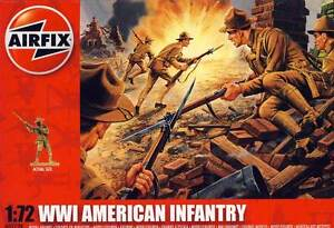 Airfix Soldiers US American Infantry American Infantry WWI 1:72 Kit New