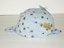 New ROOTS Size XS/S (0-6 M) (12 inches circumference) Blue Organic Toque Hat