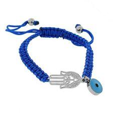 Pulseras de bisutería brazaletes azules de acero inoxidable