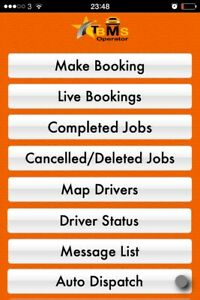 Taxi minicab chauffeur office dispatch software apps