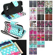 For Samsung Galaxy J3/J3 V/J3 Nova/Sol/Sky Leather Wallet Pouch Case Flip Cover