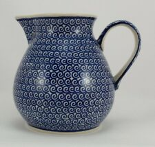 Bunzlauer Keramik Krug, Kanne, Blumenvase, Milchkrug; 0,75Liter (D023-63)