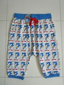 Peter Alexander Men's Sonic The Hedgehog Drop Crotch Pyjama Shorts  Size  L