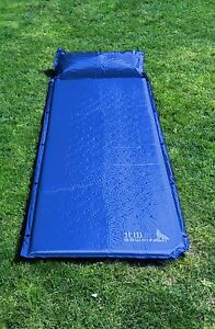 Self Inflating Air Camp Mattress Tent Bed.Waterproof, 200cm Single with Pillow