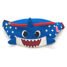 Baby Shark Face Shaped MIni Pouch Bag HIp Sack Fanny Pack Belt Kids Blue