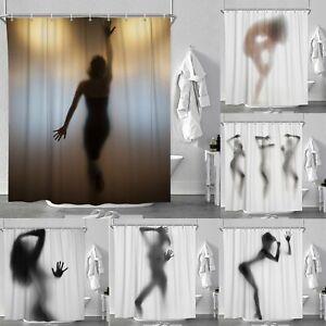 Dame Schatten Duschvorhang Anti Schimmel Badezimmer Textil Badewannenvorhang