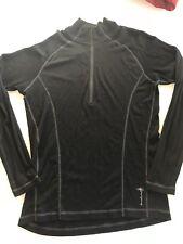 Smartwool Base Layer 1/4 Zip Mens Black Shirt X-Large Old School 100% Merino XL