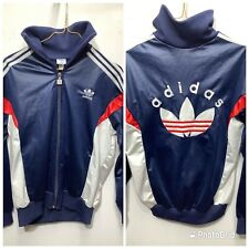 Adidas Classic 70's 80's Tracksuit Top Made In England Jacket Vintage Retro S