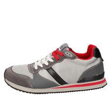 scarpe uomo D.A.T.E. (date) 40 EU sneakers grigio tessuto pelle camoscio AB507-B