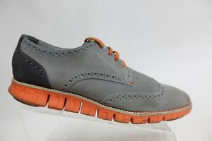 COLE HAAN Zerogrand grey Sz 11 M Men Suede Wingtip Sneakers