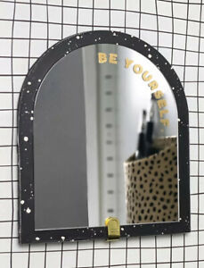 Magnetic Locker Mirror Round Top Be Yourself - Paper Riot Co