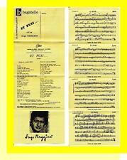 SERGE REGGIANI PARTITION MUSICALE AFRIQUE ET PUIS