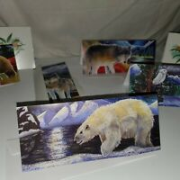 VTG Greeting Cards Defender's of Wild Wildlife Wolves bears WWF Blank Congrats