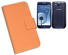 HOUSSE DE COUVERTURE FLIP COMPATIBLE X SAMSUNG i9300 GALAXY S3 SIII NOIR ORANGE