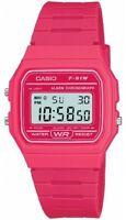 Genuine Casio F-91W Resin Classic Retro Digital Watch Alarm Stopwatch Pink NEW