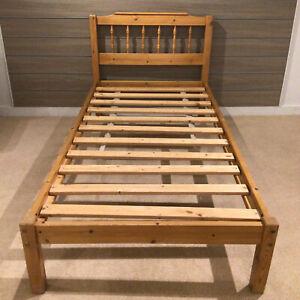 Solid Pine Single Bed Frame Childrens Wooden Bedroom Furniture
