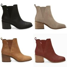 NEW AUTHENTIC TOMS WOMEN'S  ESME ROUND TOE ANKLE BOOTS - US SIZES