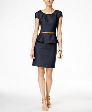 Connected Petite Belted Peplum Sheath Dress Size 14P #E188 MSRP $79.00
