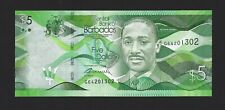 BARBADOS $5 Dollars 2017, Brand New Date, Pack Fresh UNC
