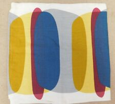 Large Ikea malin figur cushion cover in grey yellow blue 50cm sq