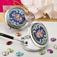1 Elephant Mirror Compact Favors Indian India Wedding Event Favor Bridal Shower