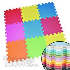 18 Tiles Eva Kids Play Flooring Foam Coloured Interlocking Fun Activity Mats