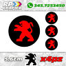 KIT 4 ADESIVI PEUGEOT COPRI MOZZO sticker 3008 308 208 207 206 black & red